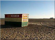 TG5307 : Deckchairs hut on Great Yarmouth's beach by Evelyn Simak