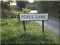 TL8927 : Popes Lane sign by Adrian Cable