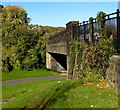 SO2701 : South side of a road bridge over a former railway, Pontnewynydd by Jaggery
