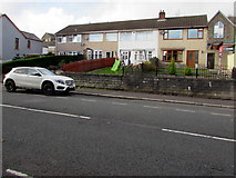 SS6696 : Row of four houses set back from Neath Road, Plasmarl, Swansea by Jaggery