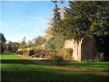 TQ1891 : Canons Park: King George V Memorial Gardens Wall (1) by Nigel Cox