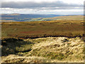 NY7738 : Peat haggs and grips on moorland above Windy Brow by Mike Quinn