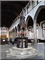 TF6120 : Font cover in St. Nicholas' chapel, King's Lynn by Adrian S Pye
