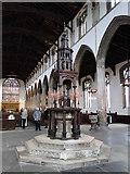 TF6120 : Font cover in St. Nicholas' chapel, King's Lynn by Adrian S Pye