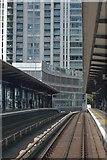 TQ3779 : South Quay DLR Station by N Chadwick