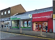 NS2776 : British Heart Foundation shop, Greenock by Thomas Nugent