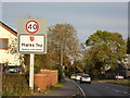 TL8923 : Marks Tey Village Name sign by Adrian Cable