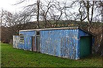 NJ1736 : Blue Shed by Anne Burgess