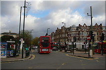TQ2587 : Crossroads outside Golders Green station by Christopher Hilton