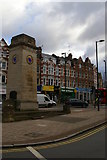TQ2587 : Golders Green war memorial, at the crossroads by the station by Christopher Hilton