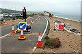 SX8242 : Roadworks, Torcross by Derek Harper