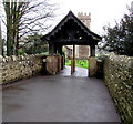 ST4690 : Memorial lychgate in Caerwent by Jaggery