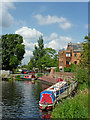 SK5914 : River basin by Sileby Mill in Leicestershire by Roger  Kidd