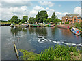 SK5914 : River Soar basin below Sileby Lock in Leicestershire by Roger  Kidd