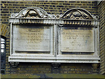 TQ2976 : Tablets on wall of St Paul's, Clapham by Robin Webster