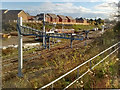 ST3086 : Slow progress with railway electrification, Newport by Robin Drayton
