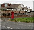 SS8980 : Queen Elizabeth II pillarbox, Burns Crescent, Bridgend by Jaggery