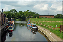 SK5815 : River Basin below Mountsorrel Lock in Leicestershire by Roger  Kidd