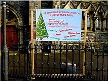 H4472 : Notice, St. Columbas Parish Church, Omagh by Kenneth  Allen