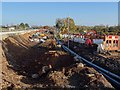 SO8540 : Major roadworks on the A4104 by Philip Halling