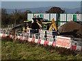 SO8541 : A JCB filling a dumper truck by Philip Halling