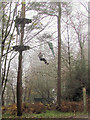 SP8808 : Caught in the Net - Go Ape on a misty day in Wendover Woods by Chris Reynolds