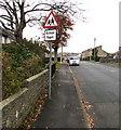 SS8980 : Warning sign - School/Ysgol, Heol-y-frenhines, Bridgend by Jaggery