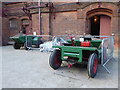 SK2625 : Claymills Victorian Pumping Station - dumper trucks by Chris Allen