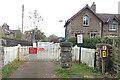 SD5095 : Burneside station level crossing by Hugh Craddock