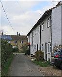 TL3142 : Litlington: cottages and cat by John Sutton