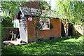 SK6001 : Former garage in garden of #65 Elms Road by Roger Templeman