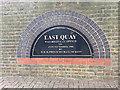 TQ3480 : Commemorative sign, Discovery Walk, off Reardon Street, Wapping by Robin Stott