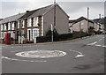 ST1494 : Penallta Road mini-roundabout, Ystrad Mynach by Jaggery