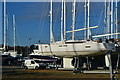 SU4909 : Boatyard beside Swanwick Shore Road by David Martin