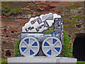 SO7192 : Train sculpture by Underhill Street in Bridgnorth, Shropshire by Roger  Kidd
