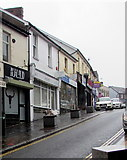 ST1599 : East side of High Street, Bargoed by Jaggery