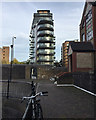 TQ3480 : Park Vista Tower, Cobblestone Square, Wapping by Robin Stott