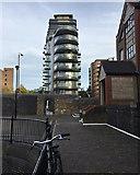 TQ3480 : Park Vista Tower, Cobblestone Square, Wapping by Robin Stott
