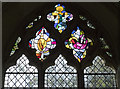 TM0276 : St Mary, Hinderclay - Stained glass window by John Salmon
