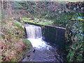 SE0428 : Weir on Caty Well Brook, Warley by Humphrey Bolton