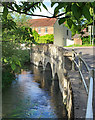 SU1026 : River Ebble at Coombe Bridge by Des Blenkinsopp