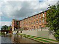 SK5420 : Former mill in Loughborough in Leicestershire by Roger  Kidd