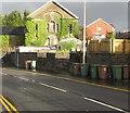 ST1594 : Wheelie bins, Tabor Road, Maesycwmmer by Jaggery