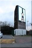 TQ1070 : Advertising display on Sundeala Close, Sunbury by David Howard