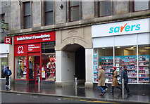 NS5964 : British Heart Foundation shop, Trongate by Thomas Nugent
