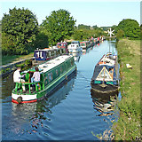 SK5023 : Narrowboats on the Zouch Cut in Nottinghamshire by Roger  Kidd