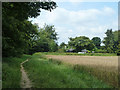 TQ4258 : Bridleway towards Main Road, A233 by Robin Webster