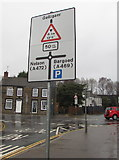 ST1494 : Gelligaer, Nelson and Bargoed directions sign in Ystrad Mynach by Jaggery