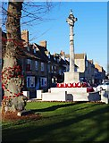 SP3509 : Decorated tree and poppy wreaths on War Memorial, Church Green, Witney, Oxon by P L Chadwick