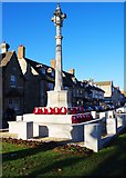 SP3509 : Wreaths around War Memorial, Church Green, Witney, Oxon by P L Chadwick